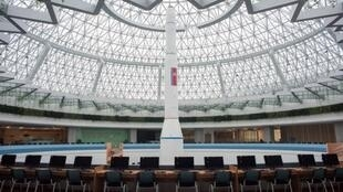 Une vue générale du hall du nouveau Centre des sciences et  des nouvelles technologies à Pyonyang, le 26 novembre 2016.