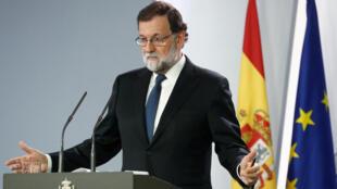 西班牙首相拉霍伊2017年10月21日马德里