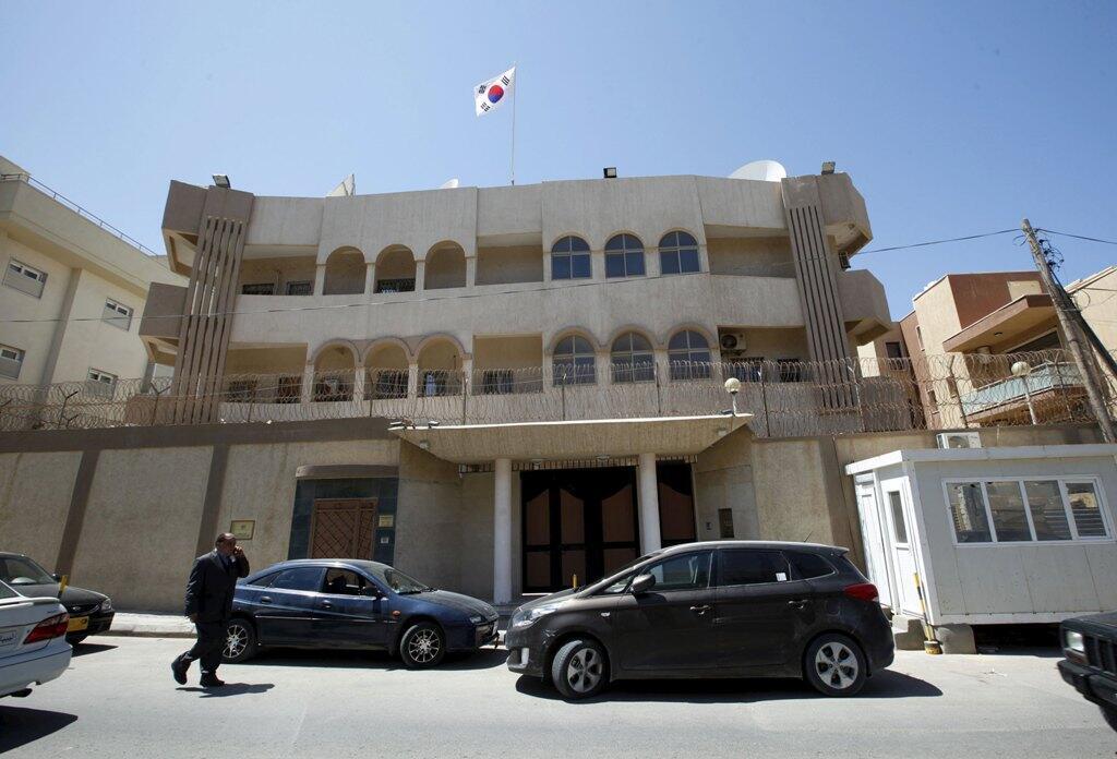 Посольство Южной Кореи в Триполи после вооруженного нападения