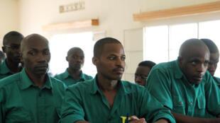 Au centre, Joël Mutabazi ancien garde du corps de Paul Kagame, a été jugé coupable de terrorisme notamment.