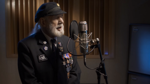 Proceeds from sales of Jim Radford's song are going to support the British Normandy memorial, a sculpture listing the 22,442 names of those under British command, who died during the D-day counter-offensive.