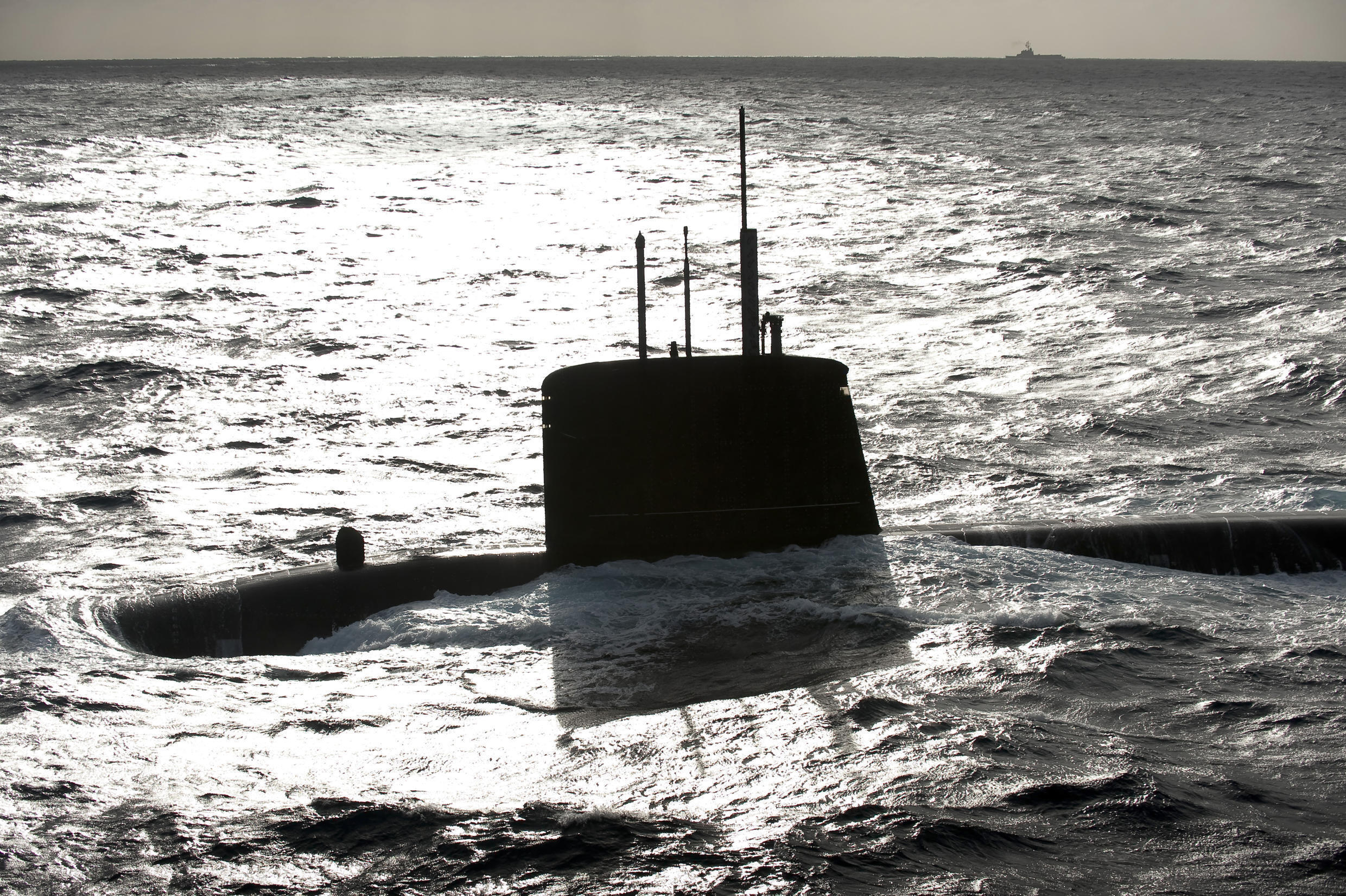 Nuclear attack submarine SNA Emeraude (shown in this file picture) was one of the two French navy ships to patrol through the South China Sea