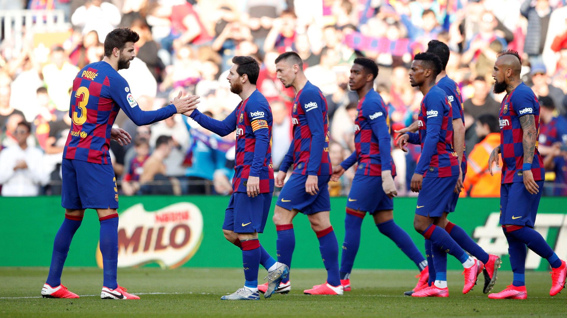 'Yan wasan Barcelona na kasar Spain