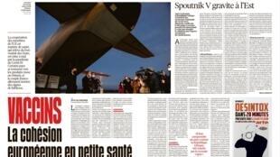 O jornal Libération desta quarta (2) destaca a falta de unidade na estratégia de vacinação dos países europeus.
