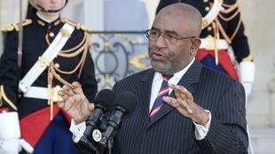 Le président des Comores Azali Assoumani ici le 4 octobre 2016 après sa visite au président français Hollande.