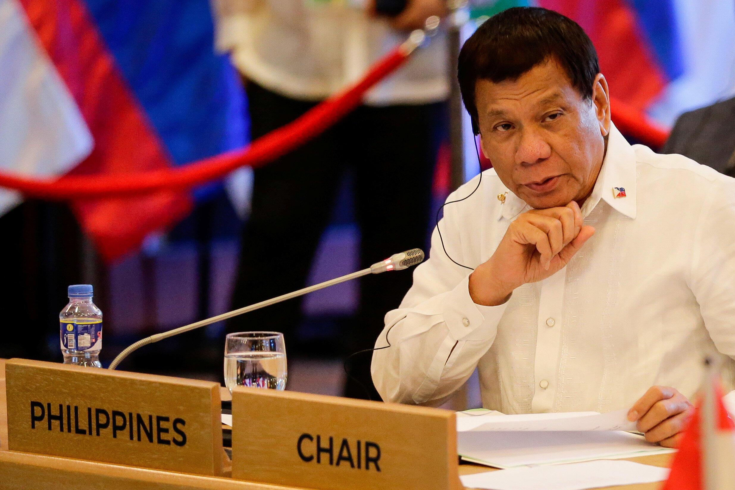 菲律賓總統杜特爾特主持東盟峰會 2017年11月13日