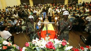 Cerimónia fúnebre do Presidente assassinado, João Bernardo Vieira. Bissau, 10 de Março de 2009