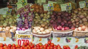 Supermarché calalan, fruits et légumes.
