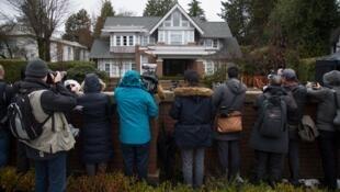 网传孟晚舟在温哥华的宅邸 资料照片