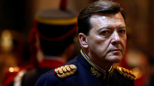L'ancien chef des armées César Milani, ici en 2014, a été arrêté vendredi 17 février.