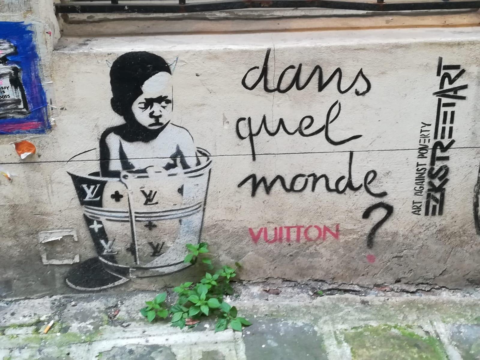 Street Art à Paris / Artiste EricZeKing EZK.