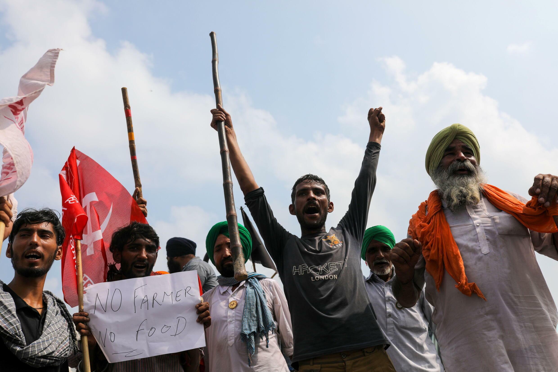 Inde, manifestations, fermiers