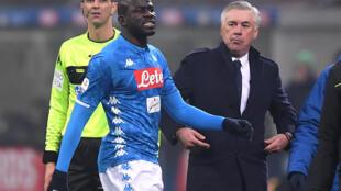 Le joueur de Naples, Kalidou Koulibaly après sa sortie du terrain, le 26 décembre 2018.