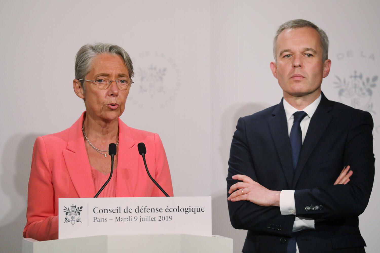 The odd couple: Elisabeth Borne alongside François de Rugy before she took his job as well as her own.