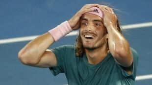 Stefanos Tsitsipas is the first player from Greece to reach the last eight at a Grand Slam event.