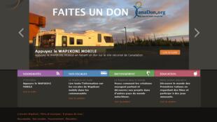 Présentation du Wapikoni Mobile sur le site internet www.wapikoni.tv