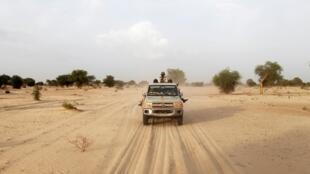 Sojojin Nijar yayin sintiri a iyakar kasa da Nigeria.