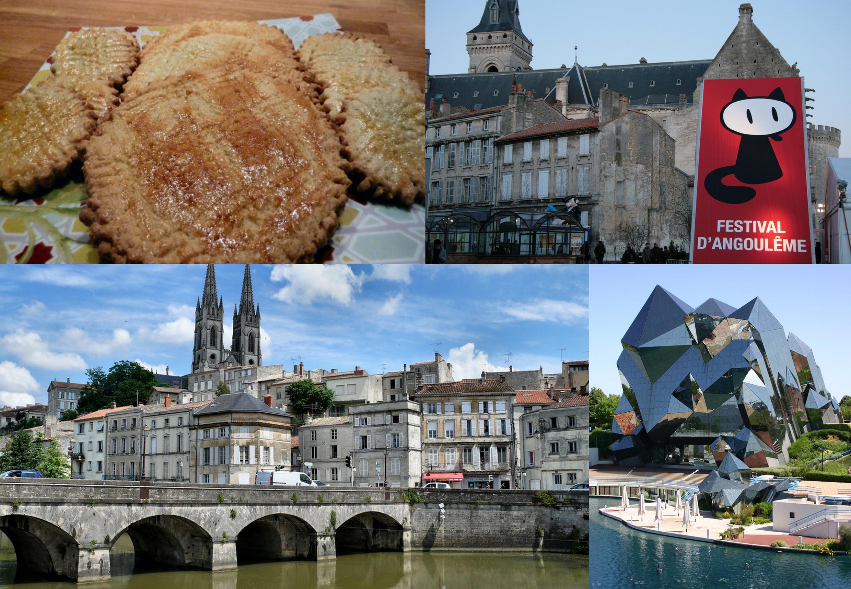 Os biscoitos da Charentes, o festival de HQ de Angouleme, A arquitetura de Niort, o famoso centro de novas tecnologias de Poitiers.