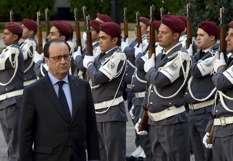 Tổng thống Pháp François Hollande tới thăm Liban ngày 16/04/2016 trong chặng công du Trung cận Đông.