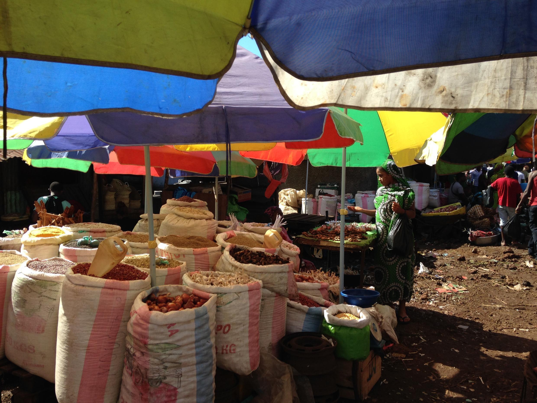 Le marché principal de Moroni, aux Comores.