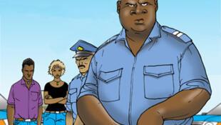 Askari polisi wakiongozana na Kwame kumuokoa Profesa Omar