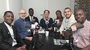 Les invités de C'est pas du vent, pendant la COP23 à Bonn, novembre 2017.