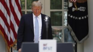 Le président américain Donald Trump, le 7 mai 2018 à la Maison Blanche.