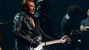 Johnny Hallyday gives a concert in New York City