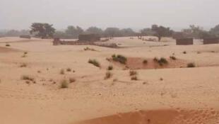 Paysage sahélien, au Niger.