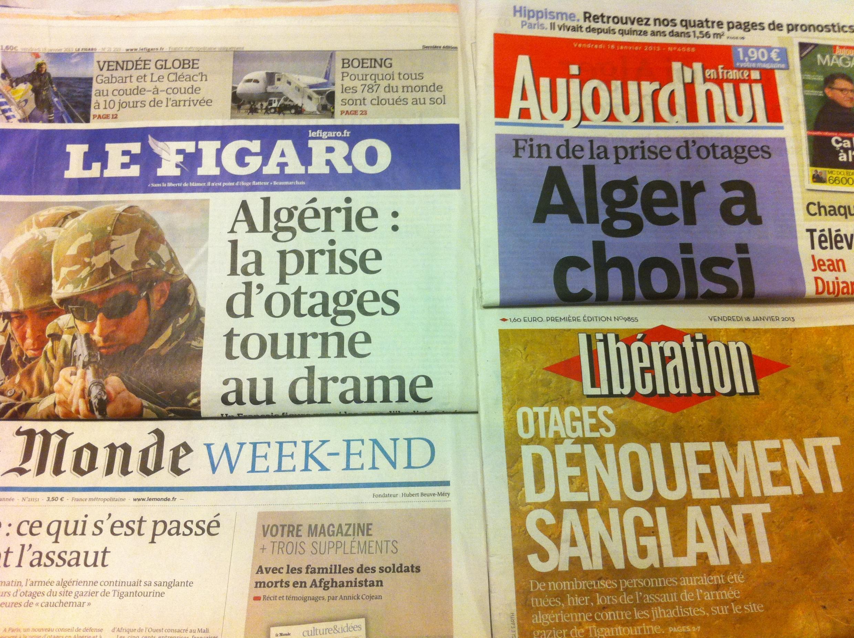Capas dos jornais de 18 de Janeiro de 2013