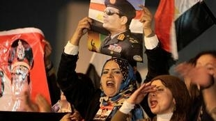 Supporters of Egypt's army chief General Abdel Fattah al-Sisi.