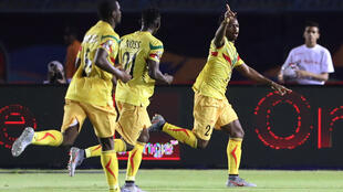 Le Mali vient d'ouvrir le score par Diaby face à la Mauritanie. Le 24 juin 2019.
