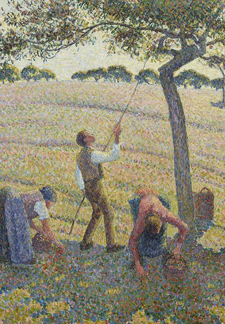 Camille Pissarro, La Cueillette des Pommes (detail)