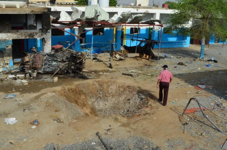 Abs, le 16 août 2016. L'hôpital de MSF situé dans cette localité yéménite contrôlée par les rebelles a été soufflé la veille par un bombardement aérien de la coalition dirigée par l'Arabie saoudite.