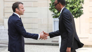 Hooreejo Faransi Emmaniyel Makron e hooreejo Ruwanda Pool Kagame [natal yeru]