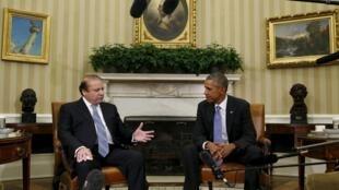 Hội kiến Tổng thống Mỹ Barack Obama và Thủ tướng Pakistan Nawaz Sharif tại Nhà Trắng, 22/10/2015.