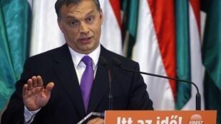 លោក Viktor Orban ប្រធានគណបក្សប្រឆំាងស្តំានិយមហុងគ្រី