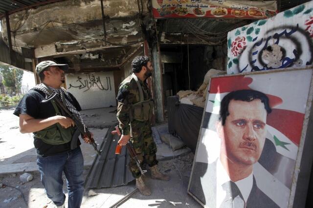 Segurança pessoal do presidente da Síria Bashar al-Assad em Damasco, 27 de maio de 2013