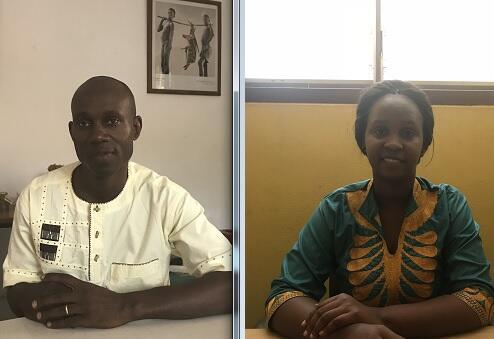 Rui Jorge Semedo e Adama Baldé. Bissau. 20 de Novembro de 2019.