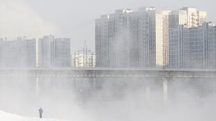 La température dans la capitale russe Moscou avoisinait les - 20 degrés, ce 3 février 2012.