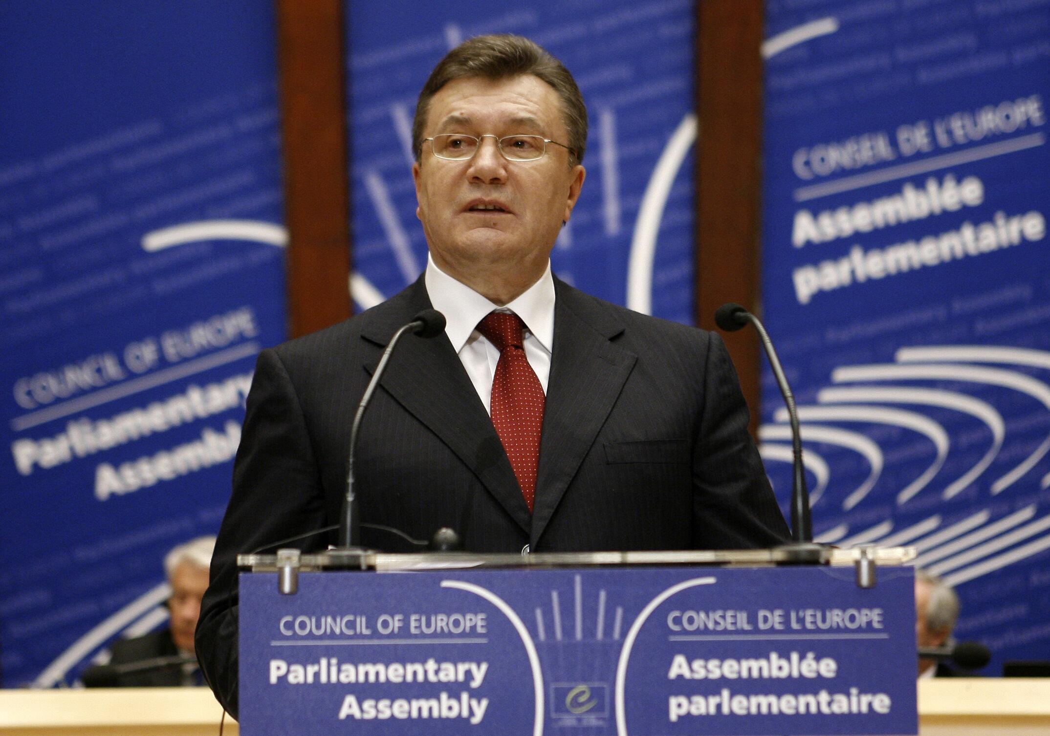 Выступление президента Украины В.Януковича в ПАСЕ.