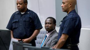 Aliyekuwa kamanda wa kikosi cha waasi wa Uganda, LRA, Dominic Ongwen, akiwa katika mahakama ya ICC, 6 December 2016.