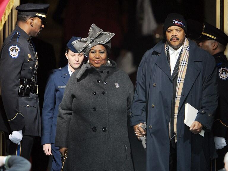 Aretha Franklin đến điện Capitole biểu diễn nhân lễ tuyên thệ nhậm chức của tổng thống Obama, 01/2009