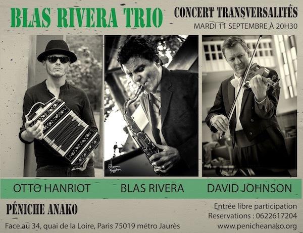 Cartel del concierto del Blas Rivera Trio