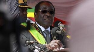 Mugabe deliver speech at Heroes Day in Harare