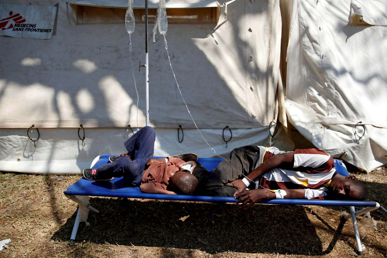 Des patients traités lors d'une précédente épidémie de cholera. (Image d'illustration)