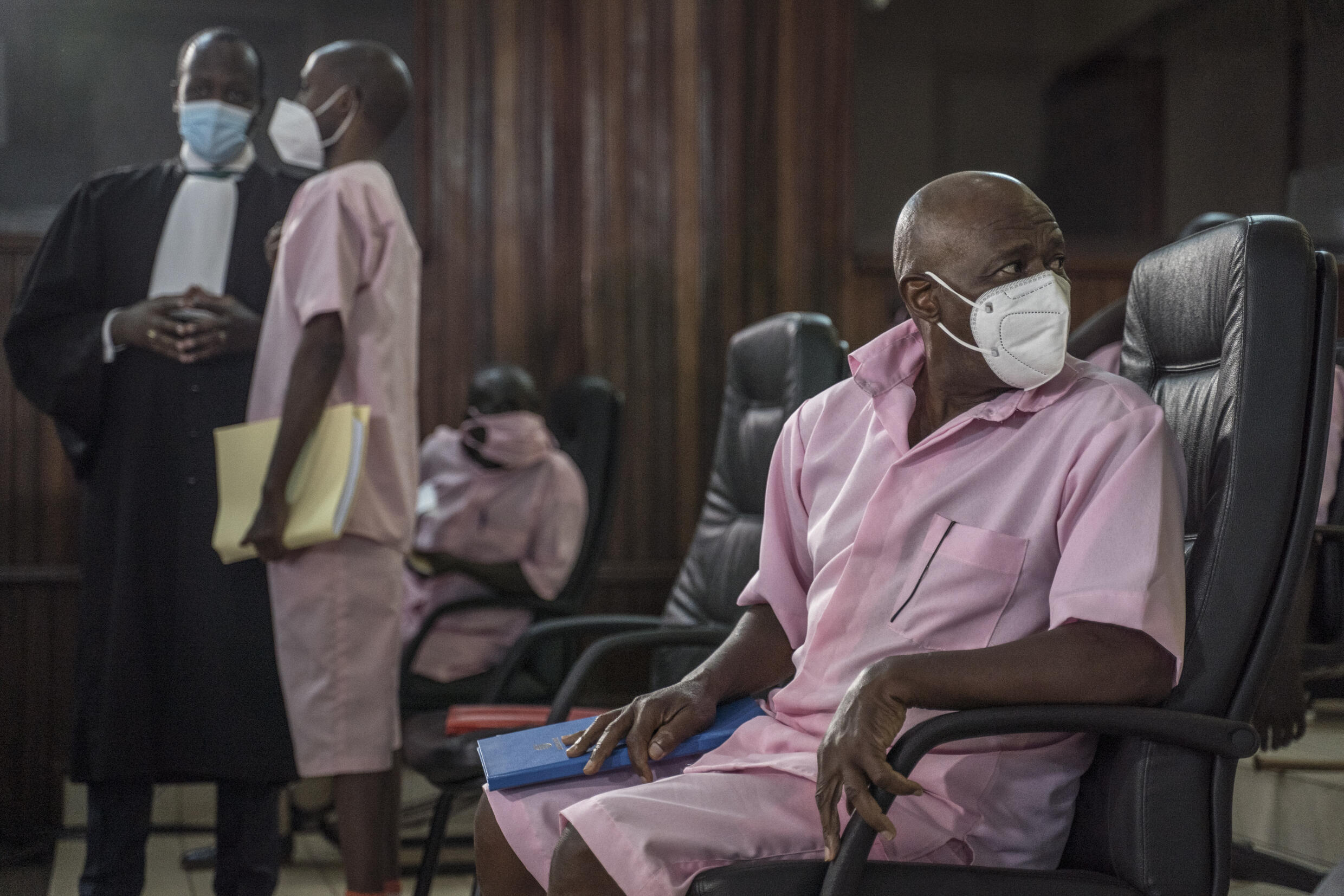 """Paul Rusesabagina, who was played by American actor Don Cheadle in 2004's """"Hotel Rwanda"""" on trial in Kigali on Wednesday"""