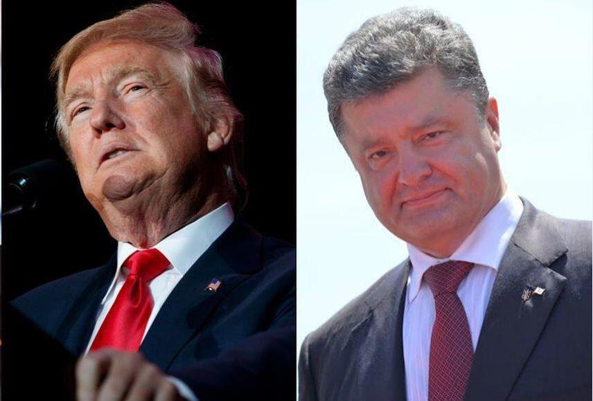 Дональд Трамп (слева) и Петр Порошенко