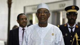 El presidente de Chad, Idriss Déby Itno, en la sede de la Unión Africana en Adís Abeba, el 10 de febrero de 2020