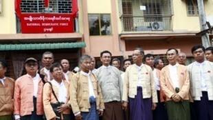 Члены партии Национальная демократическая сила в Рангуне.